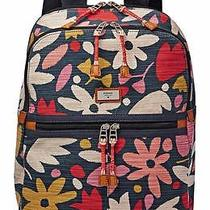 Nwt 128 Fossil Blake Backpack School Laptop Book Bag Floral Print Zb6788865 Photo