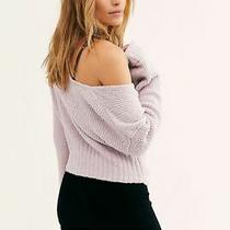 Nwt 128 Free People Sensual Wrap Sweater Soft Lilac S Small  Photo