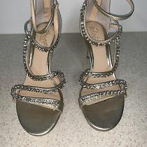 Nwt 128 Jewel Badgley Mischka Gold & Bling Rhinestones Heels Photo