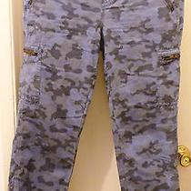 Nwt 128 Madewell J.crew Zip Cargo Pants in Blue Camo 26 Women Pants Fits 29-30  Photo
