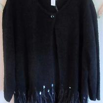 Nwt 129 Chico's Sequin Feather Camilla Cardigan 2 (L) Photo