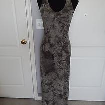 Nwt 129 Sanctuary Olive Green Dye Cotton Spandex Open Back Maxi Dress S Photo