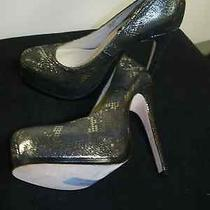 Nwt 130 Chinese Laundry Elise Wink Wink Pewter Reptile Stiletto Heels 5 Medium Photo