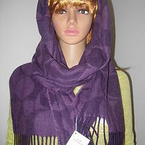 Nwt 130 Coach Scarf Signature Violet Purple Made in Italy 73in  20.5in Photo