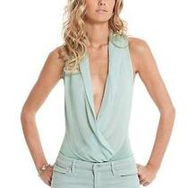 Nwt 138 Guess by Marciano Daria Silk Bodysuit Blouse Shirt/top Size L Photo
