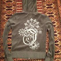 Nwt 138 Juicy Couture Heather Prestige Sparkle Burst Hoodie Size Xl Photo