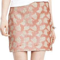 Nwt 140 Banana Republic Sequin Mini Skirt in Blush Size 12 Photo