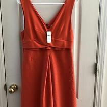 Nwt 148 Hd in Paris Anthropologie Ardmore Orange Pleated Dress Size 10p Petite Photo