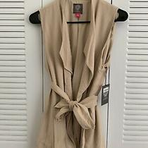 Nwt 149 Trench-Style Vest Beige S by Vince Camuto  Zara Gap Topshop Aritzia Photo
