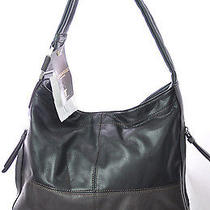 Nwt159 Tignanello Gray Womans Large Designer Handbag Purse Hobo Satchel Photo