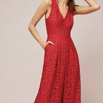 Nwt 168 Anthropologie Moulinette Soeurs Jaeda Lace Jumpsuit Sz 2 Red Overall Xs Photo