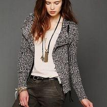 Nwt 168 Salt & Pepper Motorcycle Sweater Knit Zip Jacket Free People L Pockets Photo