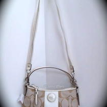 Nwt 17439 Coach Signature Stripe Demi Crossbody Photo