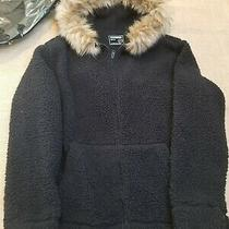 Nwt 175 Express Mens Teddy Jacket Sz Xl(removable  Fur Trim) Photo
