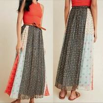 Nwt 178 Anthropologie Margot Pleated Maxi Skirt Verb by Pallavi Singhee Size 8 Photo