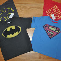 Nwt 18 24 Junk Food Gap Superman Shirt & Batman Shirt Caped Cape Superhero Lot Photo