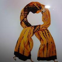 Nwt 180 Antik Batik Made in France Designer Silk Scarf Yellowprints S 42