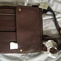 Nwt 188 Fossil Leather Travel Crossbody Bag Photo