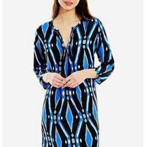 Nwt195 Roberta Roller Rabbit Nina Silk Dress Campbell Royal Blue Black Gray S Photo