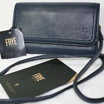 Nwt 198 Frye Lily Convertible Phone Crossbody Wallet Shoulder Bag Clutch Navy   Photo