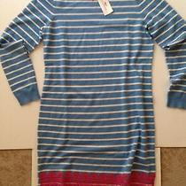 Nwt 198 Vineyard Vines Women's Ocean Breeze Striped Applique Dress Size Medium Photo