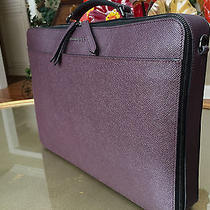 Nwt 1995 Burberry London Blackmore Leather Computer Case Briefcase Shoulderbag  Photo