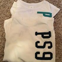 Nwt 2 Ps From Aeropostale Youth Boys Tee Shirts Size 10 White Short Sleeve Photo