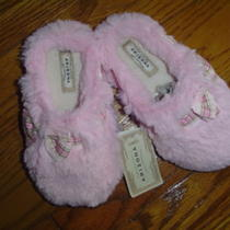 Nwt 20 Arizona Little Girls Soft Faux Fur Fancy Pink Slippers Size 11-12 Photo
