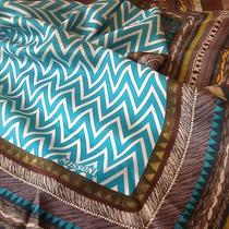 Nwt 200 Missoni Zigzag Silk Scarforange Label34x34made in Italy. Lowest Photo