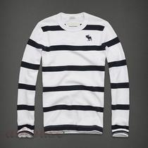 Nwt 2012 Abercrombie F by Hollister Men Elk Lake Long Sleeve Stripe Tee Shirts   Photo