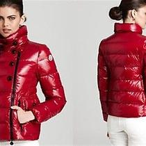 Nwt 2013 Moncler Daim Lacquer Rasberry Short Down Coat  Jacket  Sz 4/ L 1295 Photo
