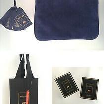 Nwt 2015 Balmain X h&m Blue Suede Clutch  2 Eau De Parfums  Or. Bag Mint  Photo