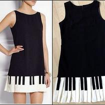 Nwt 2015 Girls / Lady Love Moschino Piano Black Dress Skirt / Dress Sz. Large Photo