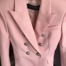 Nwt 2019 Balmain Blazer Pale Rose Silver Buttons Sz 38 Sleeve Length Altered Photo