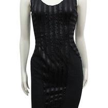Nwt 210 Aidan Mattox Black Tank Stripe Dress Sz 0 Photo