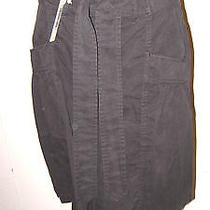 Nwt 210 Dieselblack Zip  & Tie Front Brushed Cotton Skirt Photo