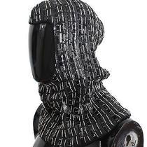Nwt 2100 Dolce & Gabbana Hat Black Wool Crystal Runway Crochet Hood Scarf Photo
