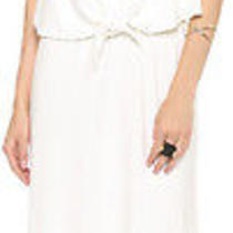 Nwt 216 T-Bags White Convertible Maxi Dress With Necklace Xs Photo