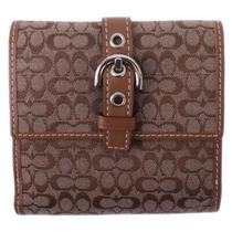 Nwt 218 Coach Signature Soho Mini Wallet Leather Brown Card Clutch Wristlet New Photo