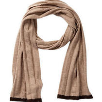 Nwt218 Magaschoni Cashmere Cabled Scarf Photo