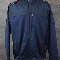 Nwt 225 Rlx Ralph Lauren Men's Navy Blue Full Zip Golf Jacket Sz Xl Softshell Photo