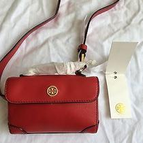 Nwt 225 Tory Burch Robinson Leather Waist Pack Belt Red Photo