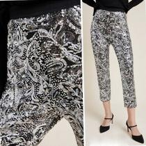 Nwt 230 Anthropologie the Odells Annette Sequined Trousers Pants Joggers Sz Xs  Photo