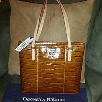 Nwt 238 Dooney and Bourke Small Lexington Shopper Croc Embossed Cognac Photo