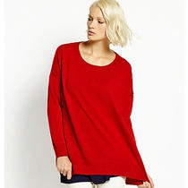 Nwt 238 Eileen Fisher Lacquer Red Merino Wool Box Top Jersey Sweater Xl Photo