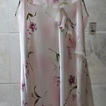 Nwt 24. Private Luxuries (L) Pink / Blush Floral Chemise Ruffle Nightgown Photo