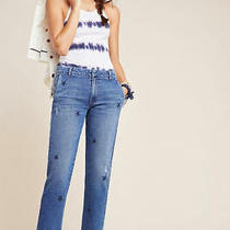 Nwt 242 Anthropologie Sundry Stars Relaxed High Rise Straight Jeans Size 27 Blu Photo