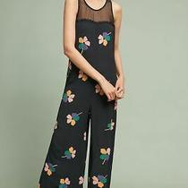 Nwt 248 Anthropologie Corey Lynn Calter Robbie Wide-Leg Jumpsuit S Black Floral Photo