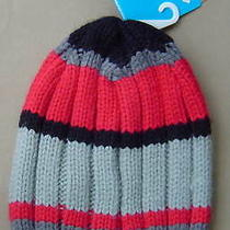Nwt 25 Columbia Bugaboo Beanie Charcoal Red Stripe Knit Winter Hat Cm9925-030 Photo