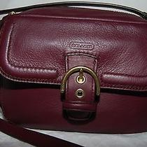 Nwt 258 Authentic Coach Campbell Leather Camera Bag/purse - Bordeaux Photo